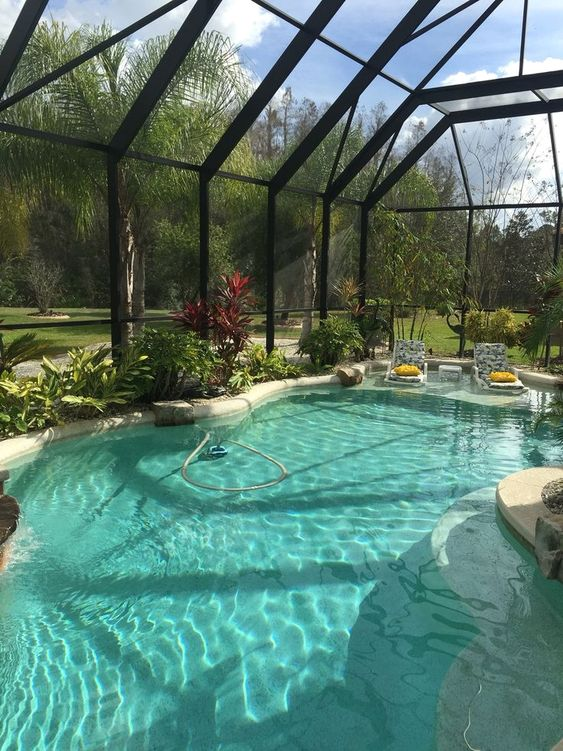 Indoor Swimming Pool Ideas: Transparent Glass Dome