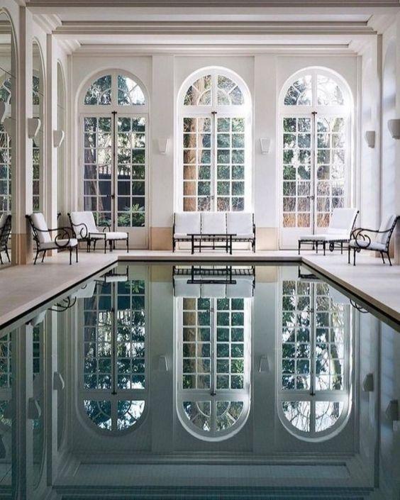 Indoor Swimming Pool Ideas: Beautiful Vintage Decor
