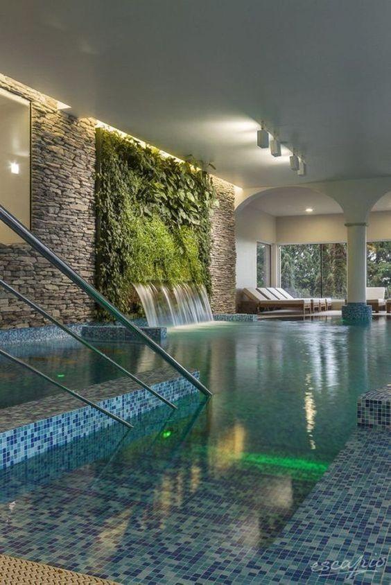 Indoor Swimming Pool Ideas: Exhilarating Earthy Decor