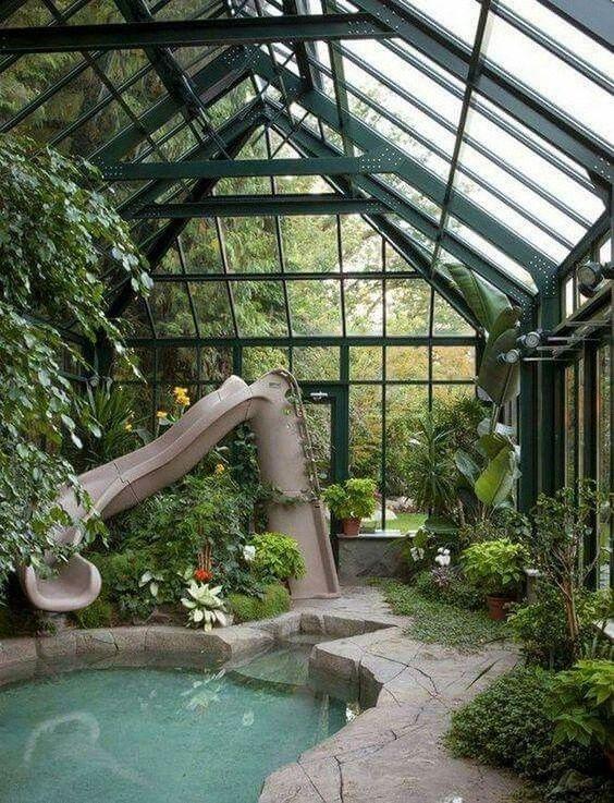 Indoor Swimming Pool Ideas: Fun Earthy Decor