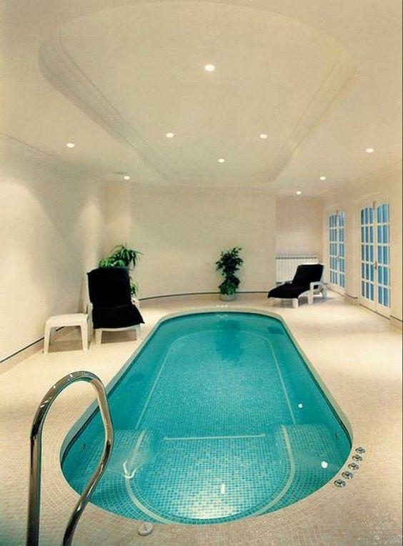 Indoor Swimming Pool Ideas: Simple Elegant Decor