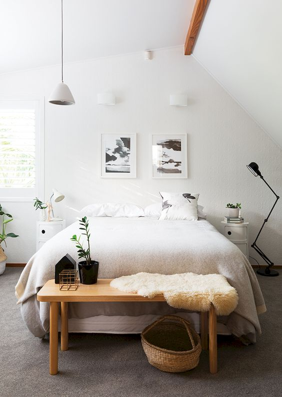 Minimalist Bedroom Ideas: Neutral Earthy Decor