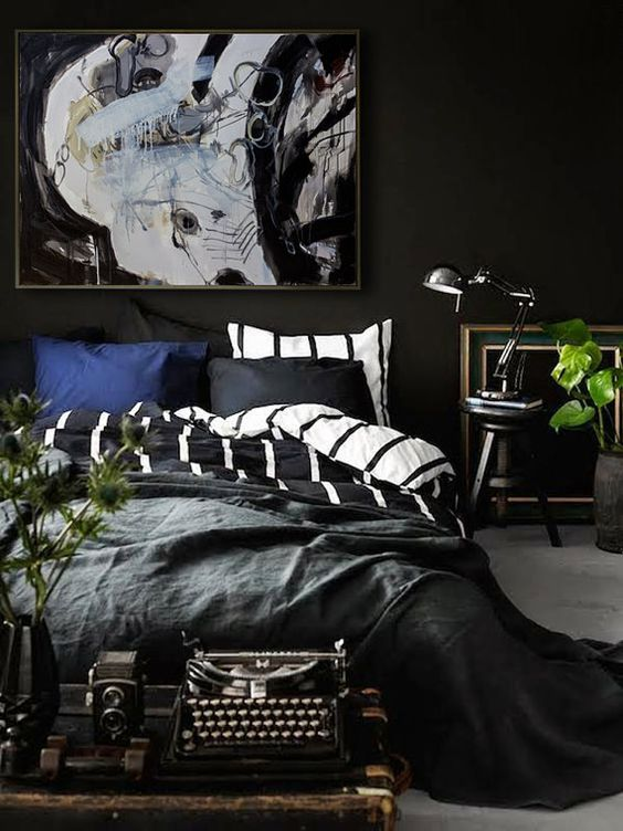Minimalist Bedroom Ideas: Bold Masculine Decor