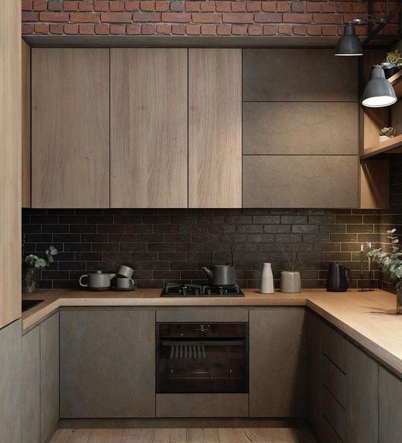 Wood Kitchen Ideas: Small Contemporary Decor