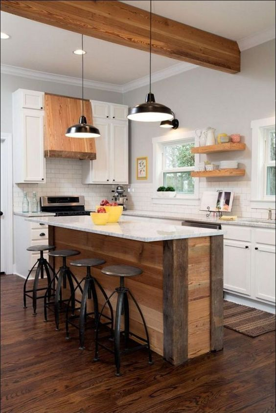 Wood Kitchen Ideas: Simple Vintage Decor