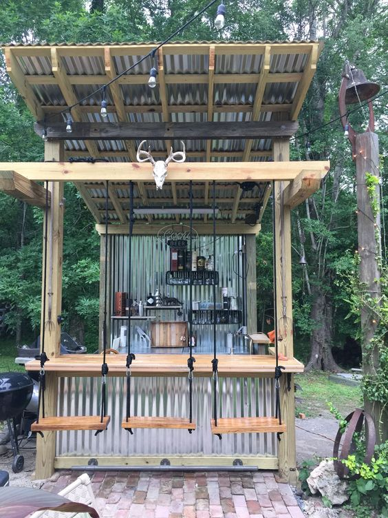 Backyard Bar Ideas: Exhilarating DIY Bar