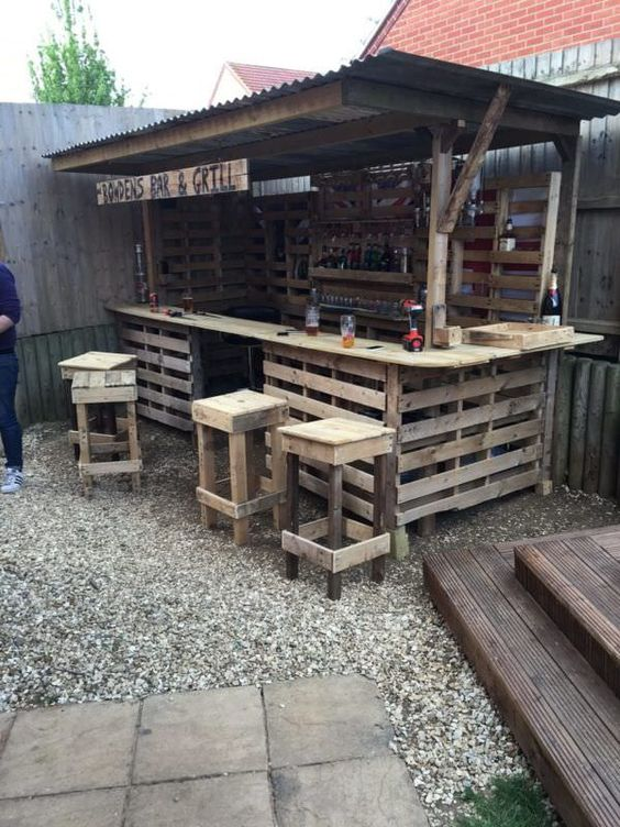 Backyard Bar Ideas: Cheap DIY Design