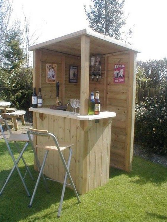 Backyard Bar Ideas: Simple Small Design
