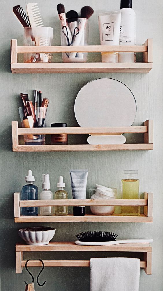 diy bathroom organizations 12