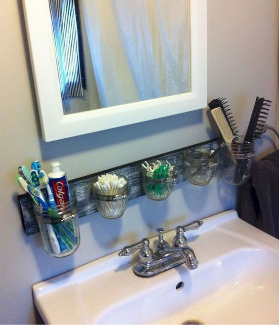 DIY Bathroom Organizations: Simple Vanity Storage