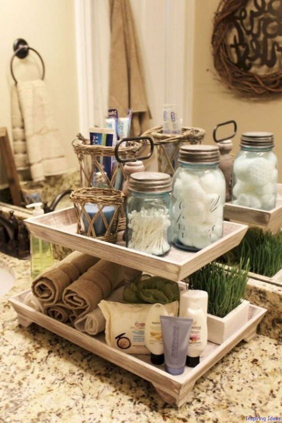 DIY Bathroom Organizations: Gorgeous Vanity Tray