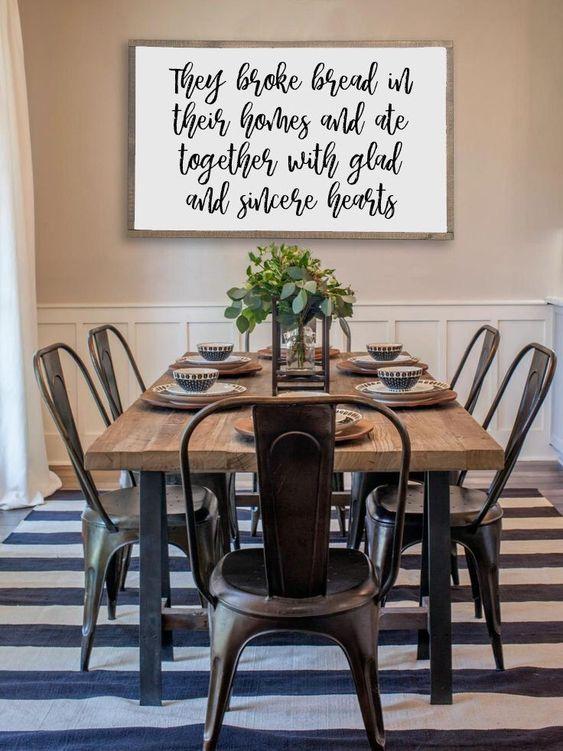Elegant Dining Room: Stylish Farmhouse Decor