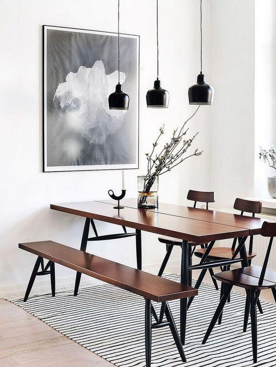 Elegant Dining Room: Sleek Picnic Decor