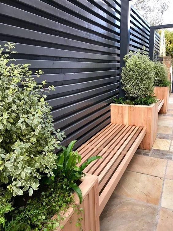 horizontal fence ideas 13