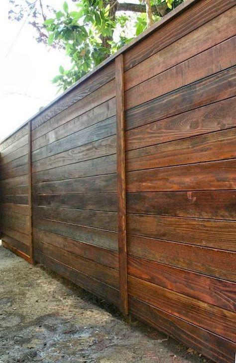 horizontal fence ideas 16