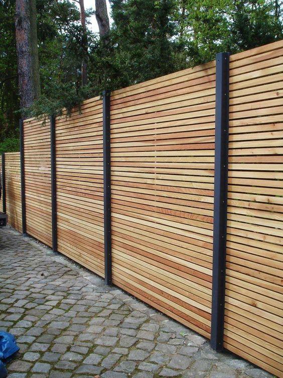 horizontal fence ideas 6