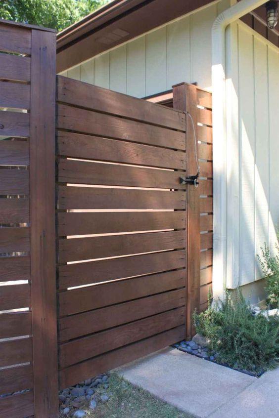 horizontal fence ideas 7