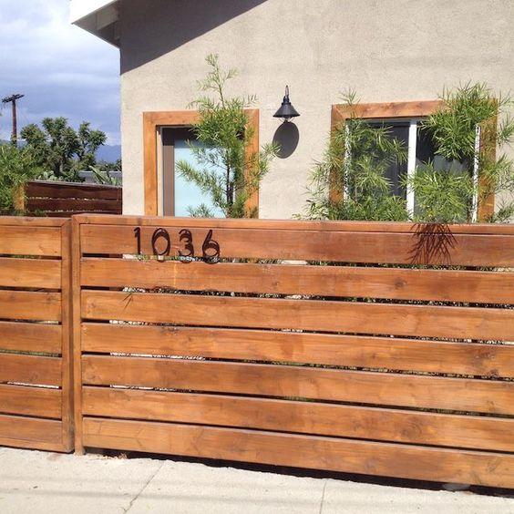horizontal fence ideas 8