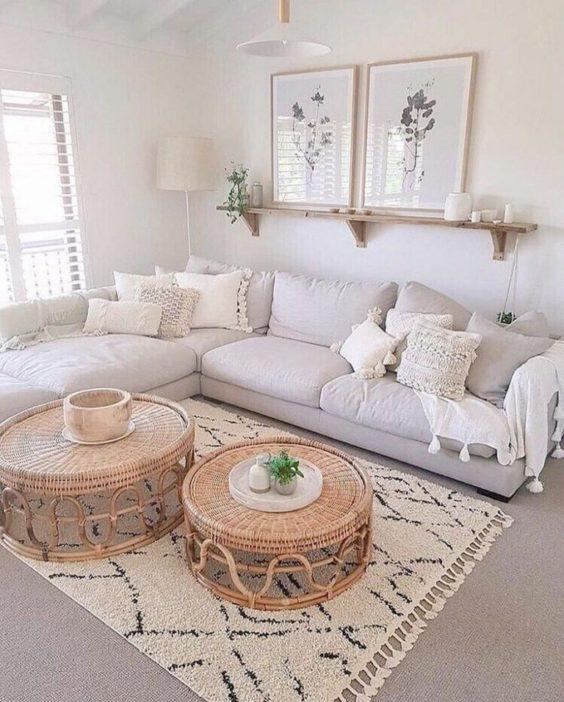 White Living Room Ideas: Neutral Warm Decor