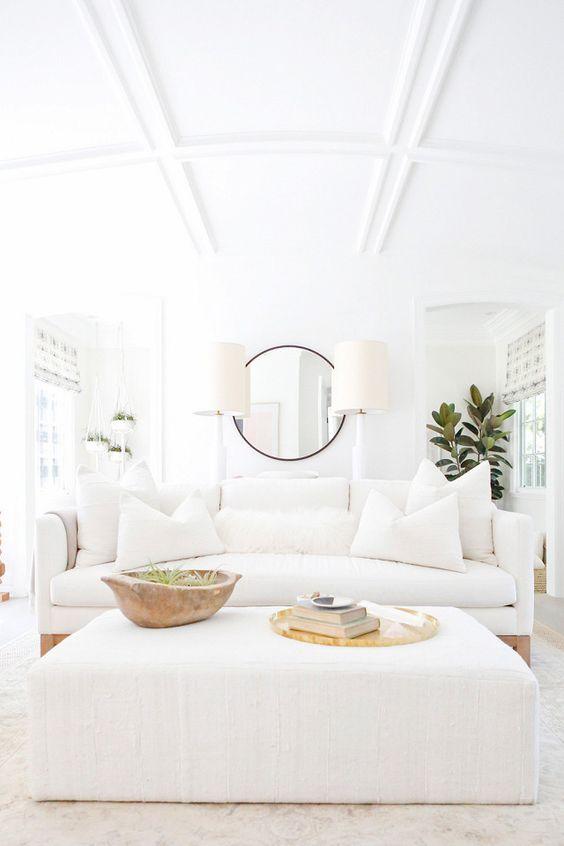White Living Room Ideas: Dazzling Bright Decor