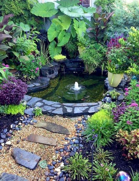 Backyard Pond Ideas: Captivating Earthy Backyard