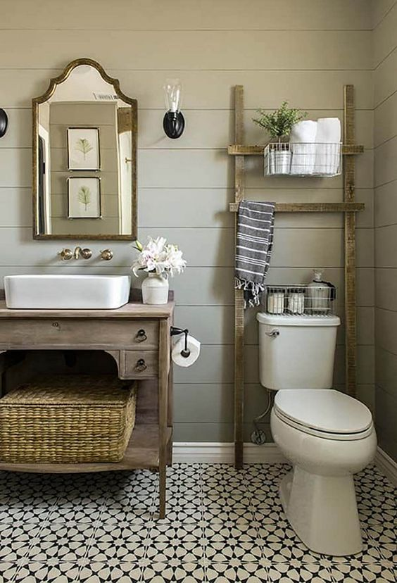 Bathroom Design Ideas: Chic Farmhouse Decor
