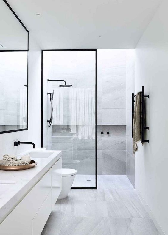 Bathroom Design Ideas: Sleek Minimalist Decor