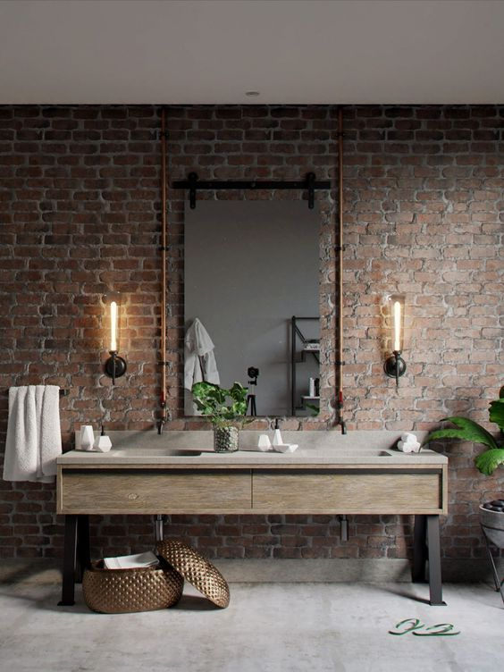 Bathroom Design Ideas: Mesmerizing Industrial Decor