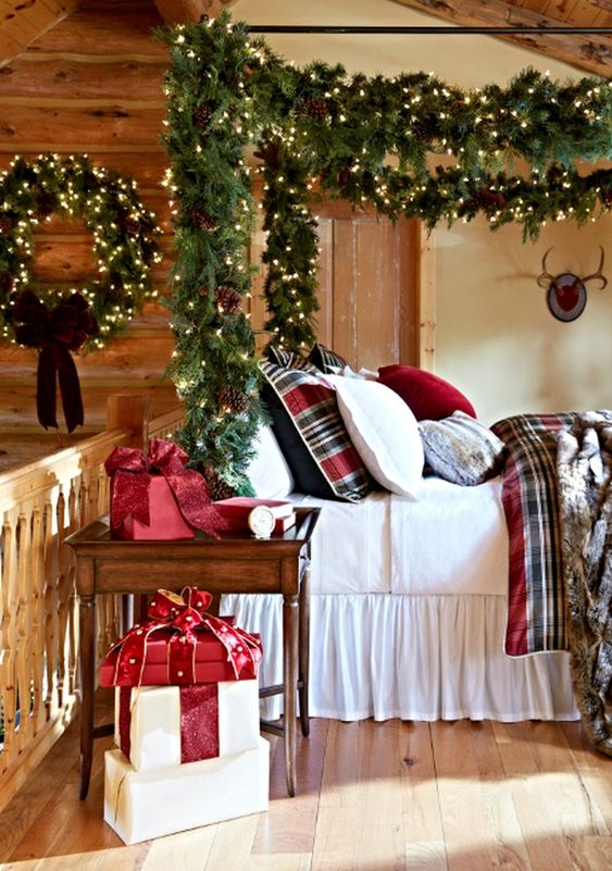 Christmas Bedroom Ideas: Brightly Beautiful Decor