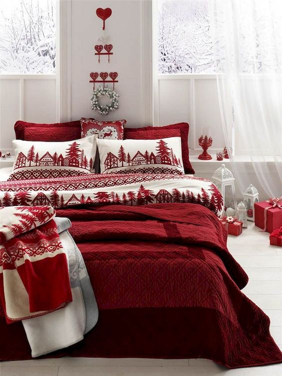 Christmas Bedroom Ideas: Gorgeous Rustic Decor