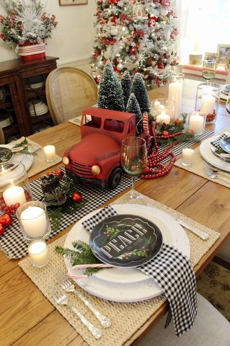 Christmas Dining Room Decor 17