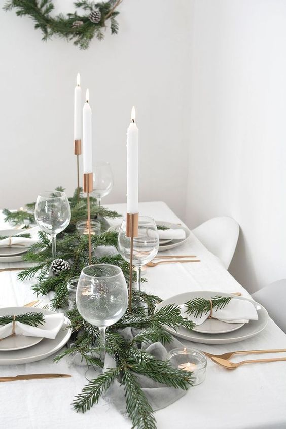 Christmas Dining Room Decor: Bright Glamorous Style