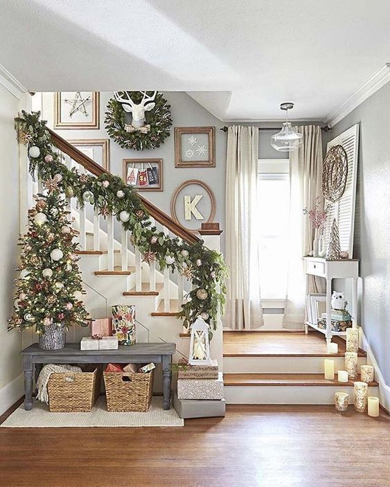 Christmas Living Room Decor: Easy Sparkling Decor