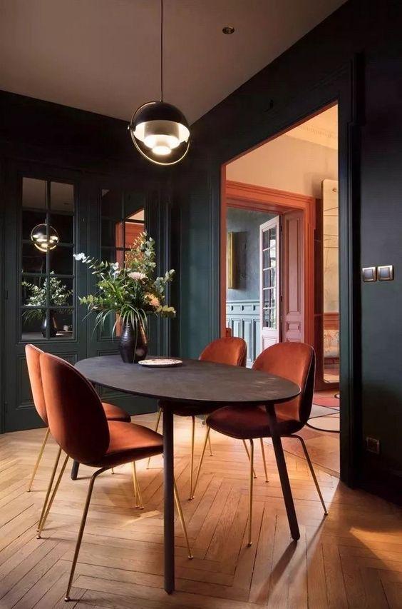 Eclectic Dining Room Ideas: Elegant Monochrome Decor