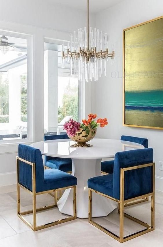 Eclectic Dining Room Ideas: Simple Glamour Decor