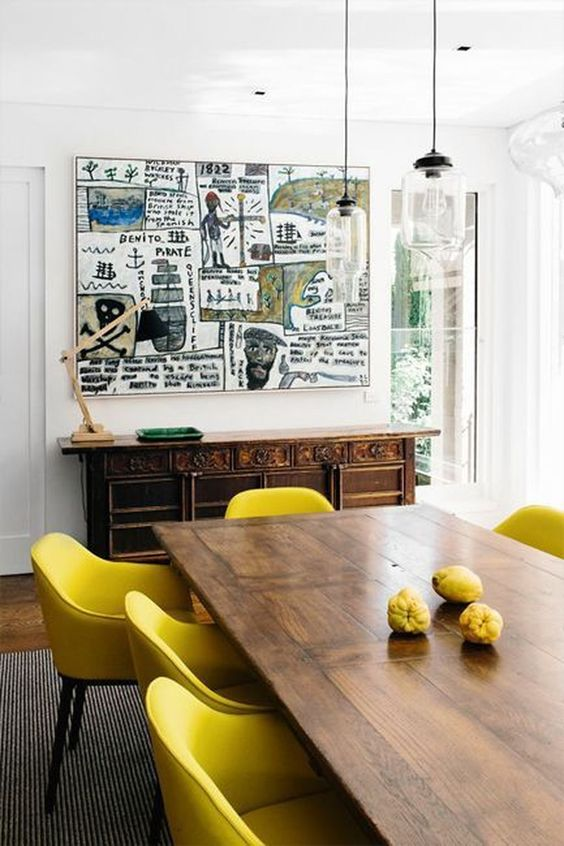 Eclectic Dining Room Ideas: Warm Cheerful Decor