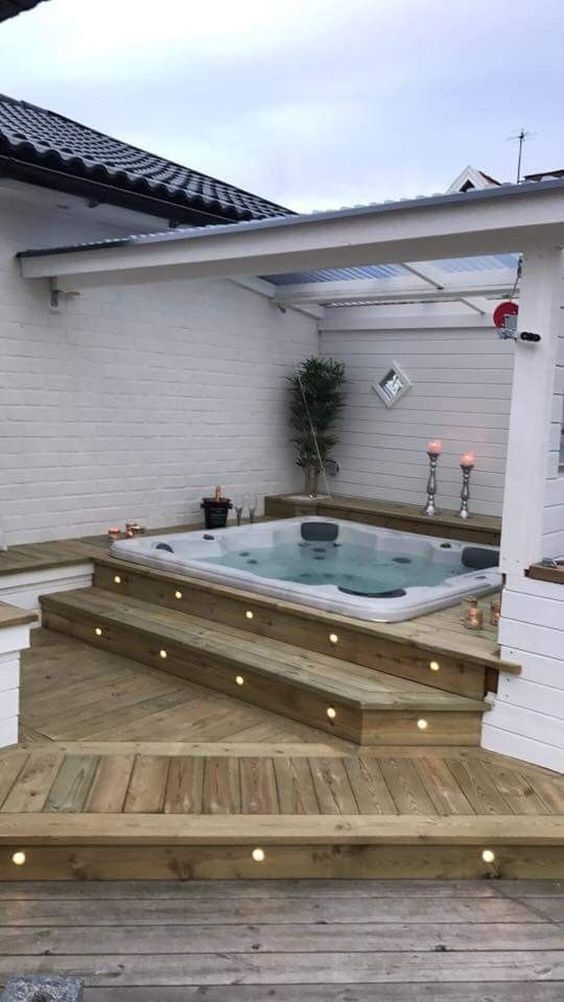 Hot Tub Backyard 15