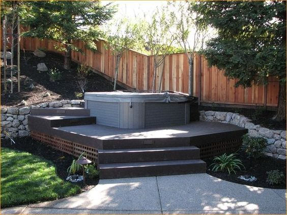 Hot Tub Backyard 21