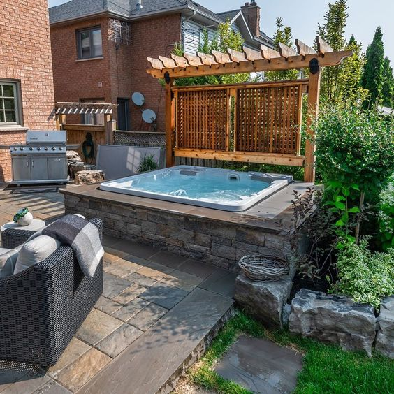Hot Tub Backyard: Beautiful Earthy Spa