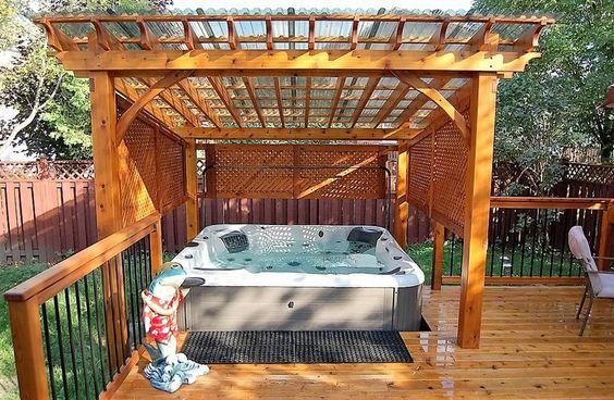 Hot Tub Pergola 15