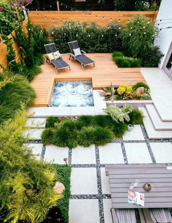 Inground Hot Tub: Simple Sleek Design