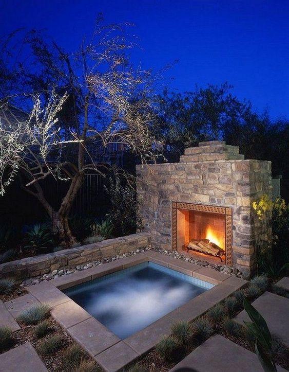 Inground Hot Tub: Stunning Rustic Design