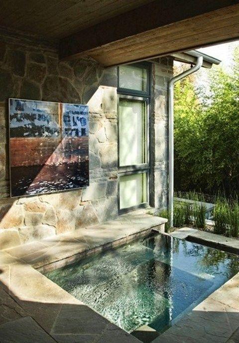 Inground Hot Tub: Modern Rustic Design