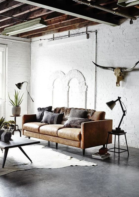 Living Room Decor Ideas: Stylish Industrial Style