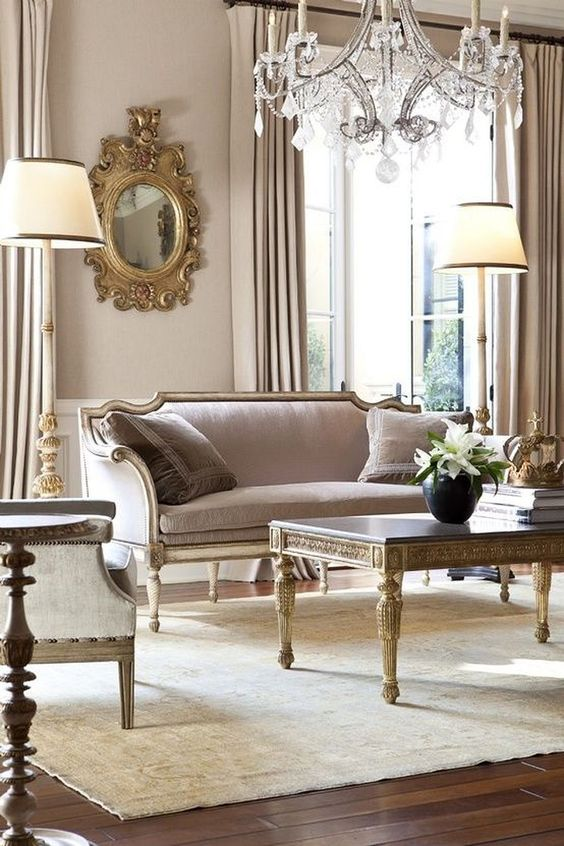Living Room Decor Ideas: Glamour French Style