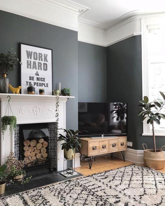Living Room Paint Ideas: Modern Rustic Decor