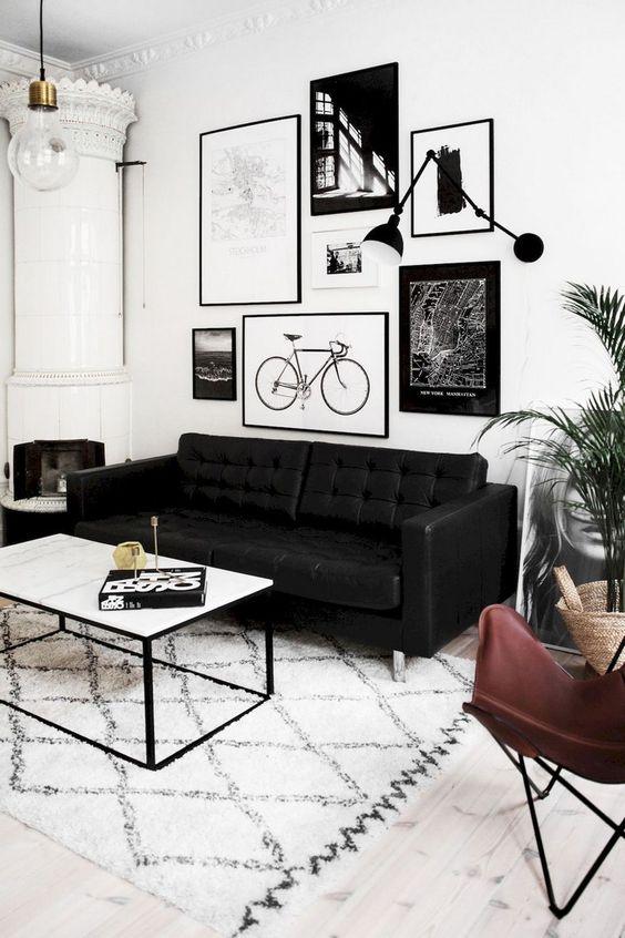 Living Room Paint Ideas: Stylish Monochrome Decor