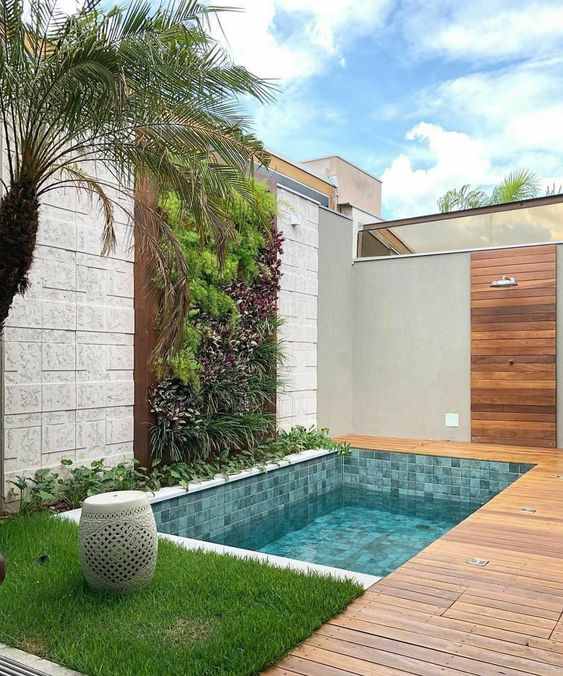 Simple Swimming Pool Ideas: Modern Earthy Design