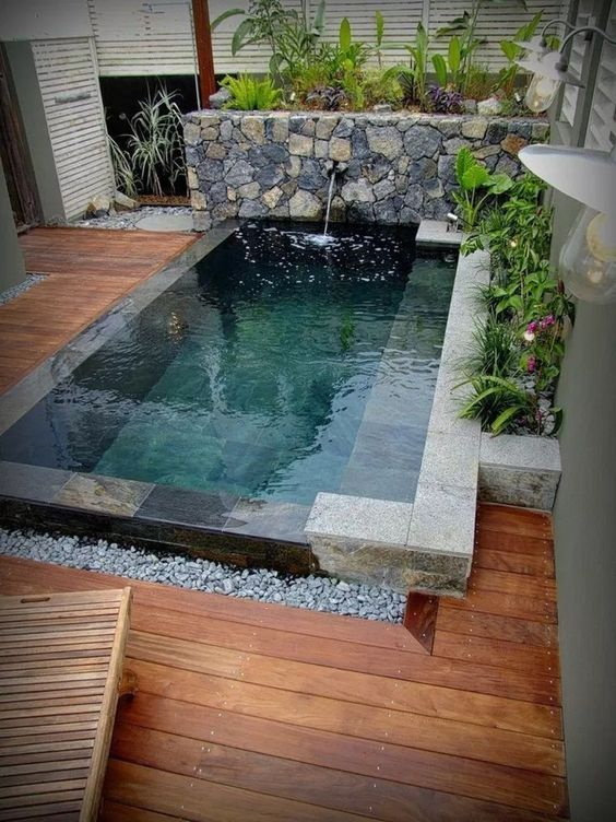 Simple Swimming Pool Ideas: Stylish Rustic Design