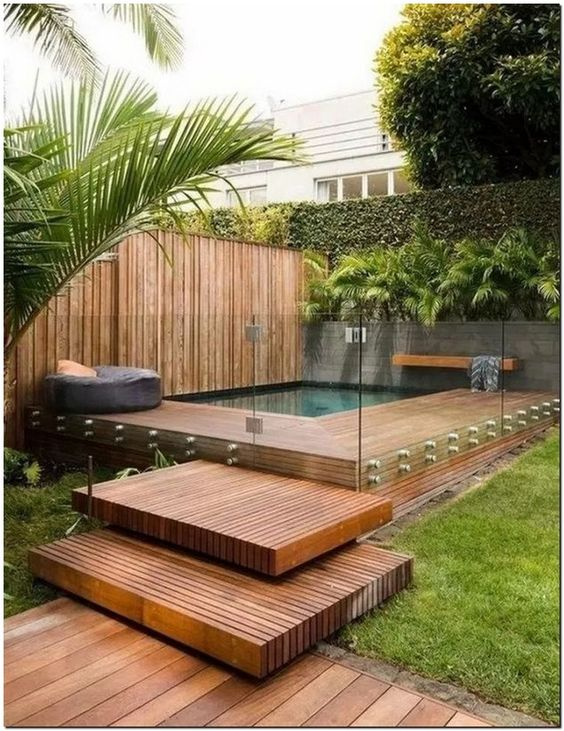 Simple Swimming Pool Ideas: Earthy Minimalist Design